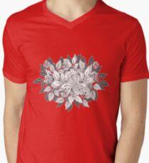 gray roses Mens V-Neck T-Shirt