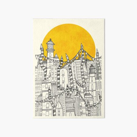 Big Sun Small City Art Board Print