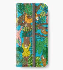Happy Sloths Jungle  iPhone Wallet/Case/Skin