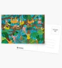 Happy Sloths Jungle  Postcards