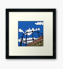 London Regent's Canal Gas Tower Framed Print