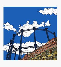 London Regent's Canal Gas Tower Photographic Print