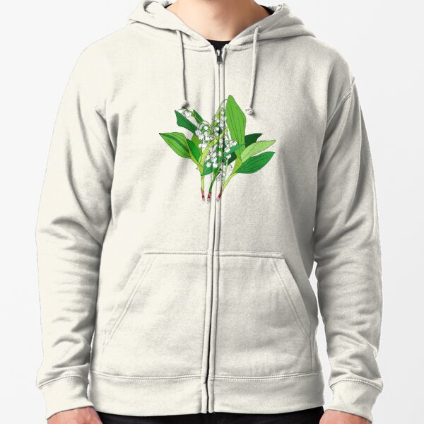 Lilly of the Valley Zipped Hoodie