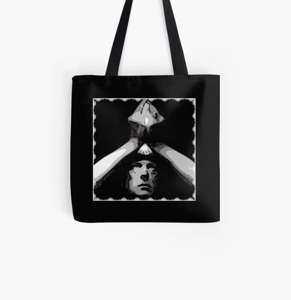 Aleister Crowley Hands Tote Shopping Bag For Life Pagan Magick Occult