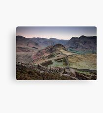 Lingmoor Fell to the Pikes Canvas Print