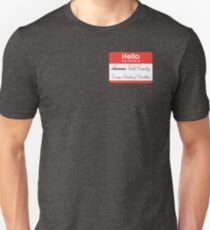 Hello badge (Violet) Unisex T-Shirt