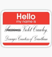 Hello badge (Violet) Sticker