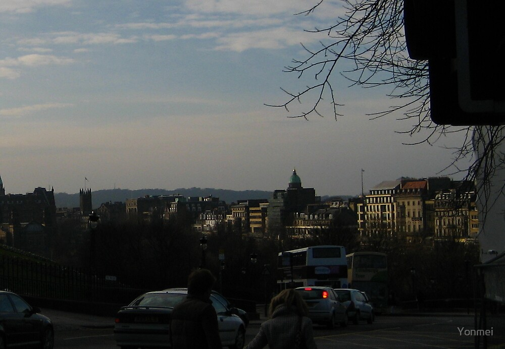 Princes Street from the Mound by Yonmei
