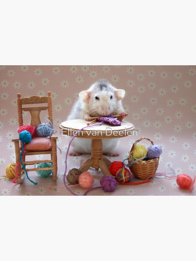 Rosie's first knitting lesson! by Ellen