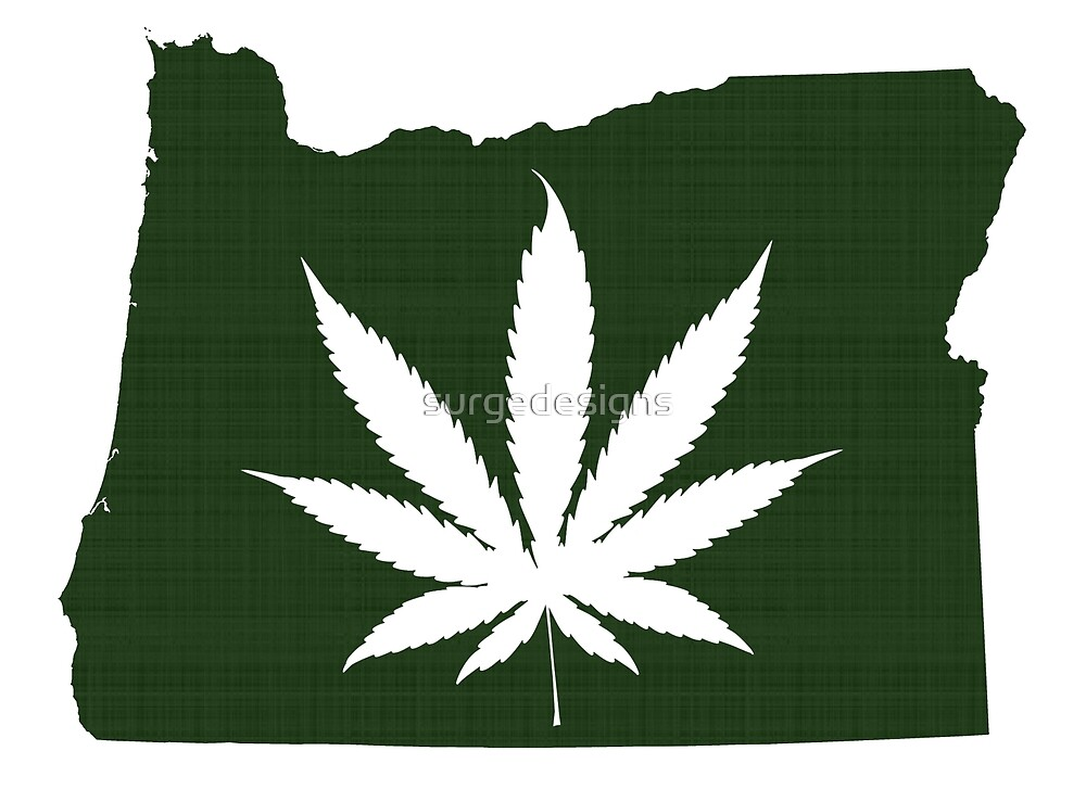 Marijuana Leaf Oregon by surgedesigns