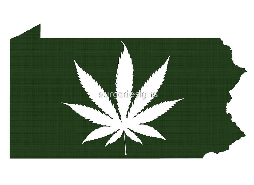 Marijuana Leaf Pennsylvania by surgedesigns