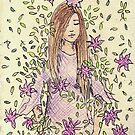 A Girl Among Flowers by Tabita Harvey