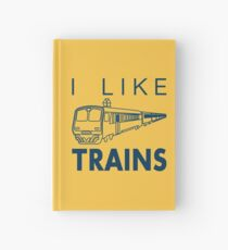I like trains Hardcover Journal