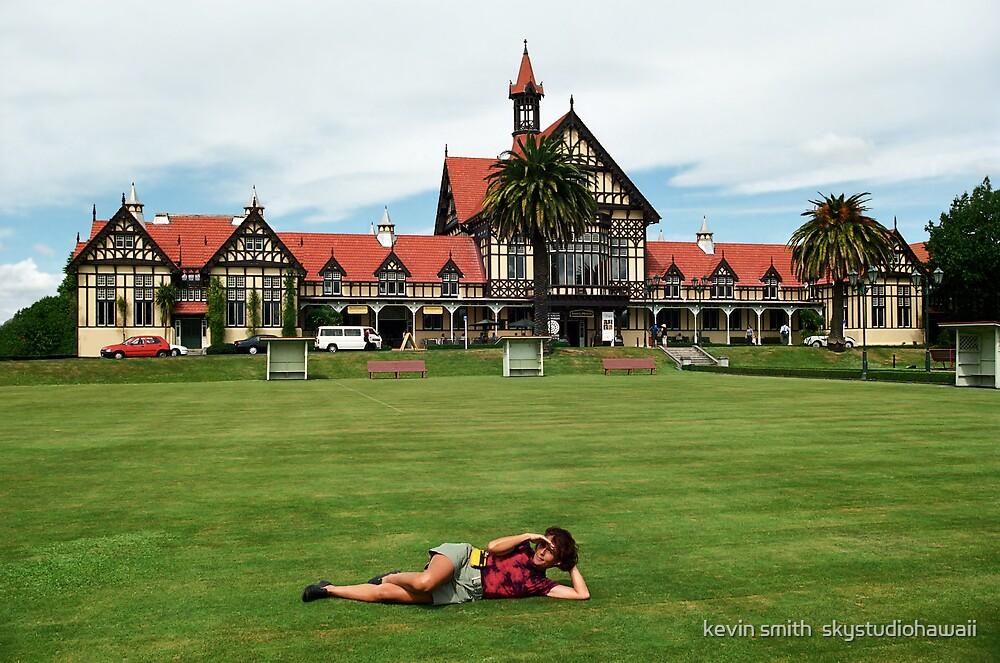 Rotorua Bathhouse NZ by kevin smith  skystudiohawaii