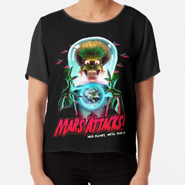 Mars Atacks Poster Chiffon Top