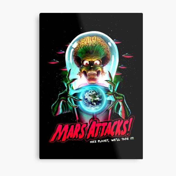 Mars Atacks Poster Metal Print