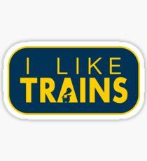 I like trains a lot Sticker