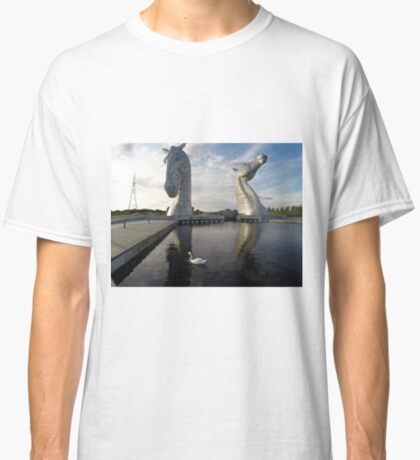 The Kelpies sculptures at the Helix Park in Falkirk  Classic T-Shirt
