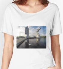 The Kelpies sculptures at the Helix Park in Falkirk  Women's Relaxed Fit T-Shirt