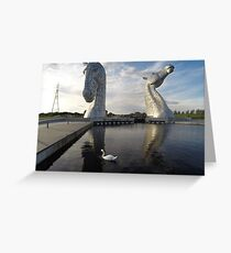 The Kelpies sculptures at the Helix Park in Falkirk  Greeting Card