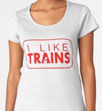 I like trains a lot Women's Premium T-Shirt