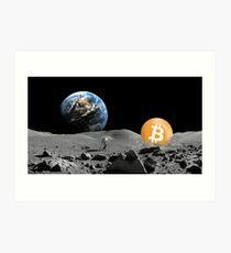 Bitcoin To The Moon Art Print
