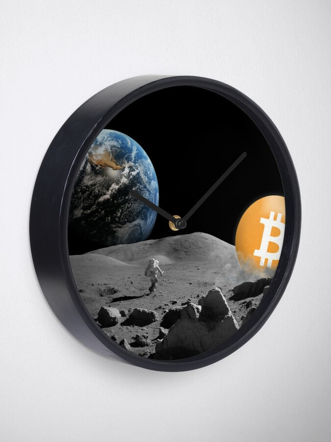 Alternate view of Bitcoin To The Moon Clock