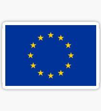 EU, European Flag, Euro, Flag of Europe, European Union, Flag, Brussels, Brexit Sticker