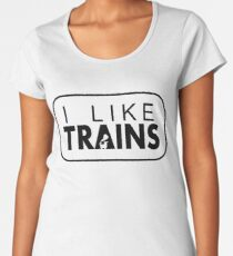 I like trains a lot Women's Premium T-Shirt