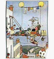 Heath Robinson, illustration, Home Comforts?, W. Heath Robinson Poster
