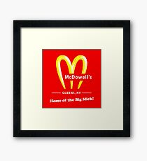 Coming To America - McDowells Resturant Framed Print