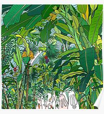 London Palm House & Bunnies Poster