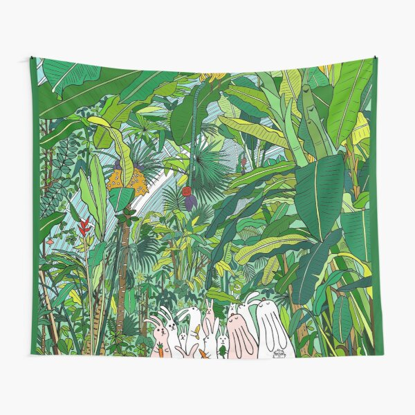 Tropical Bunnies Tapestry