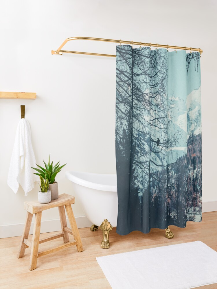 Alternate view of Please Come Back Shower Curtain