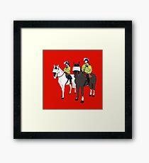 London Metropolitan Horse Cops Framed Print