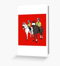 London Metropolitan Horse Cops Greeting Card