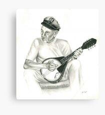 cap and his mandalin Canvas Print