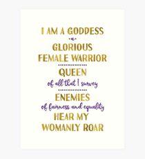 Pawnee Goddess Oath Art Print
