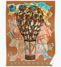 STEAMPUNK AIRSHIP BALLOON Poster