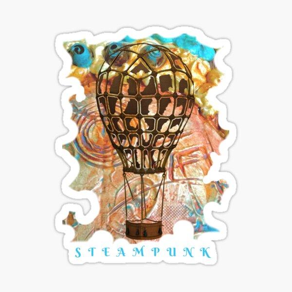 STEAMPUNK AIRSHIP BALLOON Sticker