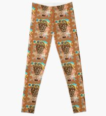 STEAMPUNK AIRSHIP BALLOON Leggings