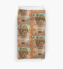 STEAMPUNK AIRSHIP BALLOON Duvet Cover