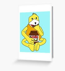 Flat E Nutella Therapy Greeting Card