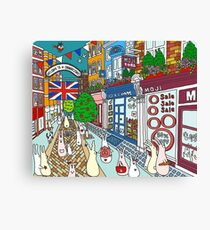 Bunnies in London Carnaby Street Canvas Print