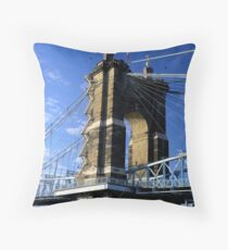 Roebling Suspension Bridge, Cincinnati Throw Pillow