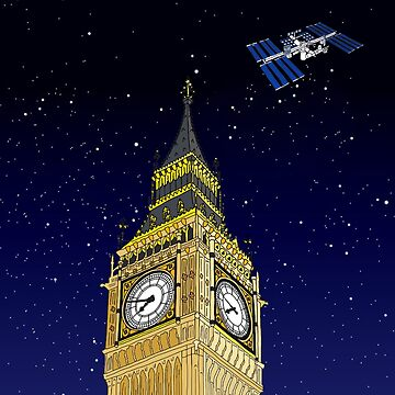 The ISS over the Big Ben by m-lapino