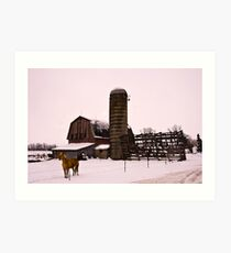 Winter on the farm- for willyn1ru Art Print
