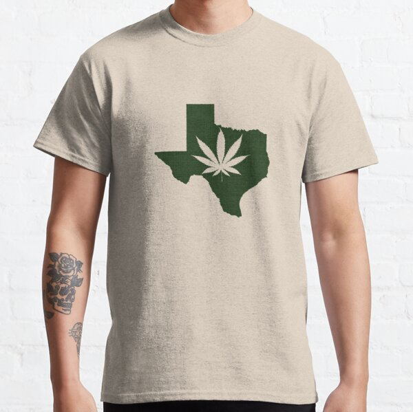 Marijuana Leaf Texas Classic T-Shirt
