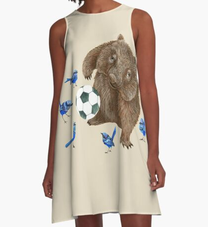 Wrens football Wombat A-Line Dress