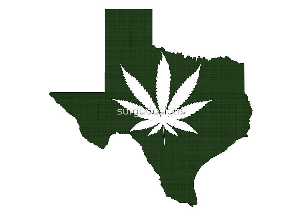 Marijuana Leaf Texas by surgedesigns